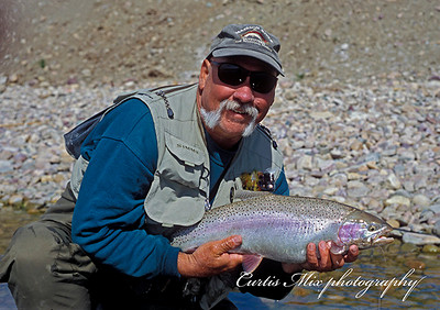 Jim with another nice Mission lake fish.