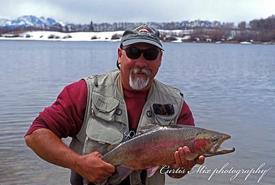 Jim with a nice male rainbow.