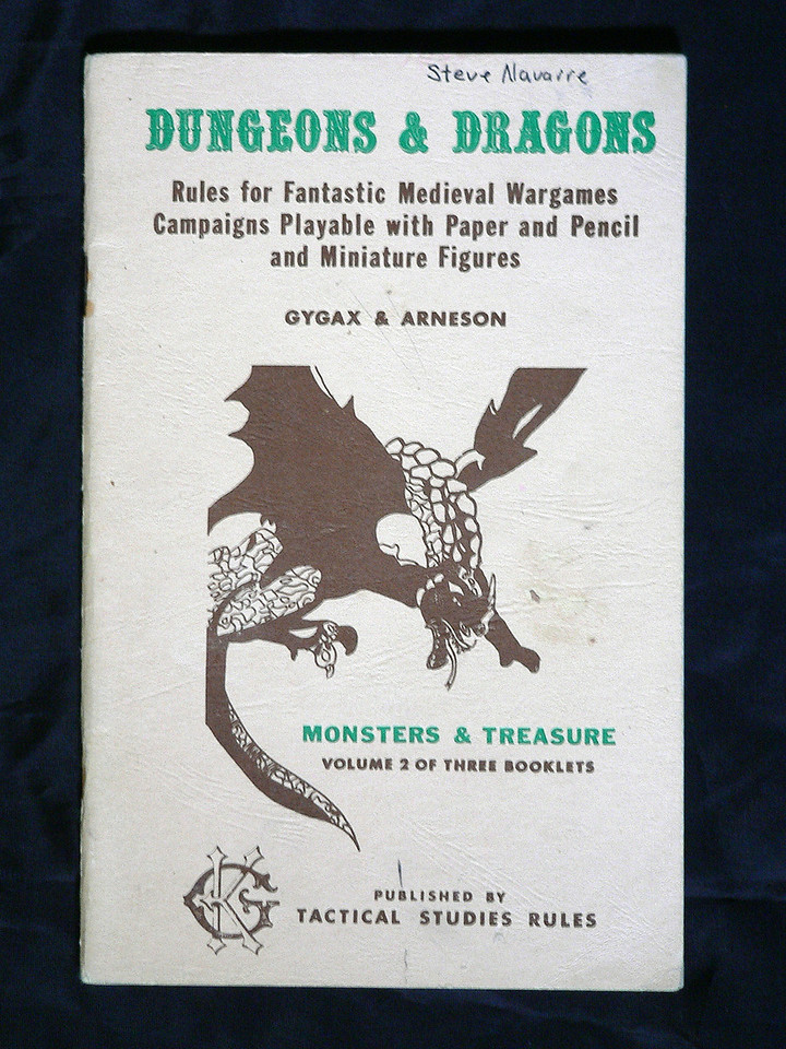 Monsters and Treasures detailed the beasts and creatures which will be encountered, as well as the kind and amount of treasure they are likely to guard.  34 pages.