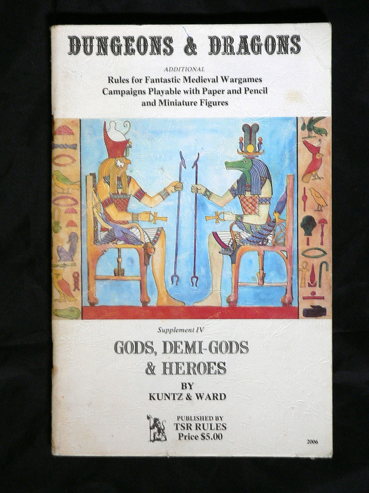 @1976 - 3rd Printing ,February 1978.  Last supplement which helped incorporate a number of various mythologies into the game. 70 pages.