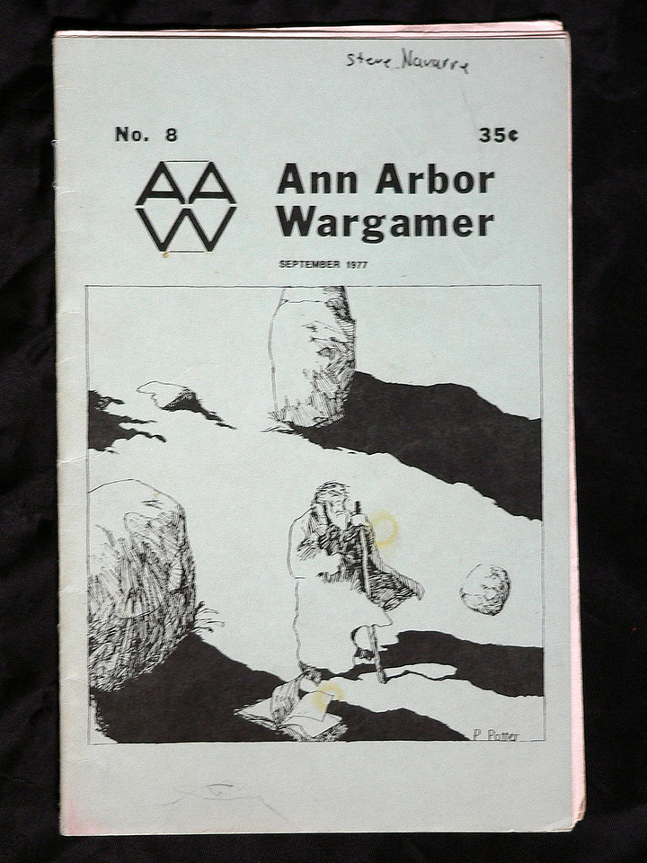 The Ann Arbor Wargamer was a fantastic source for supplemental rules for many RPG and wargames.  This one's the oldest I had.  Issue 8.  Sept. 1977.