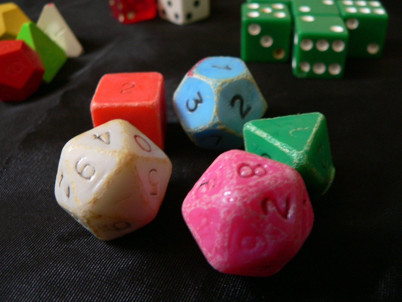 The well worn original dice set.