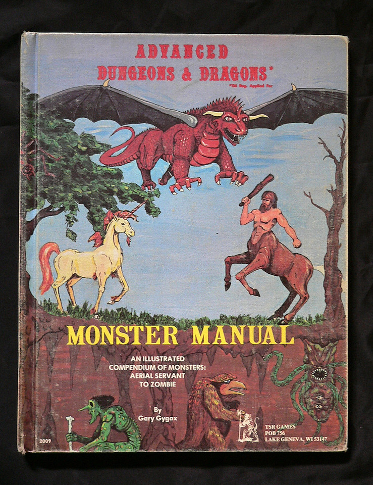 Found this info online on a D&D wiki page:  An updated version of D&D was released as Advanced Dungeons & Dragons (often abbreviated to AD&D). This was published as a set of three rulebooks, compiled by Gary Gygax, between 1977 and 1979, with additional supplemental volumes coming out over the next ten years. The AD&D rules were much better organized than the original D&D, and also incorporated so many extensions, additions, and revisions of the original rules as to make a new game. The term Advanced does not imply a higher level of skill required to play, nor exactly a higher level of or better gameplay; only the rules themselves are a new and advanced game. In a sense this version name split off to be viewed separately from the basic version below. The three core rulebooks were the Monster Manual (1977), the Players Handbook (1978), and the Dungeon Master's Guide (1979).