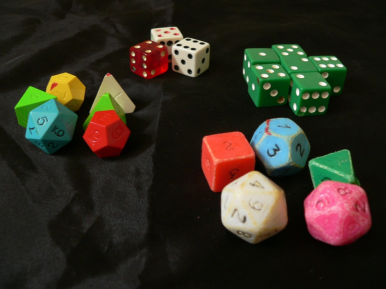 The dice...new and old.