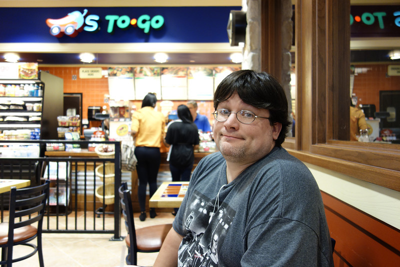 Tampa airport, pre-flight.  Sept 21st.  This is my buddy Jeff.  This will be his first ECCC trip and I believe my fourth.