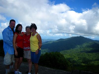 El Yunque Rainforest Visit: El Yunque Mountain & Mt Britton Hike and midnight Bio-Luminescent Bay Kayak Trip, El Yunque & Fajardo PR February 17, 2010