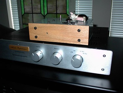 SN Tube DAC Atop Musical Experience Symphonies + Preamp  Note the piggie tweak on the DAC. It produces a more relaxed sound :)