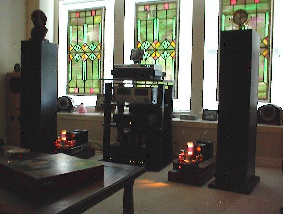 ASL 845 amps driving the Speakerbuilder Net's Eros MKII speakers