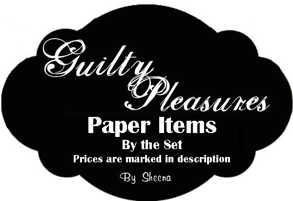 All items after this logo are paper items, sold by the set.  Prices are marked in the description.  All items are hand cut.