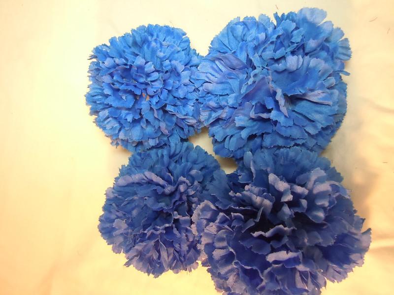 4 medium Blue Pomanders. Medium Pomanders, $3 each