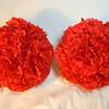 2 Large red carnation pomanders. Large Pomanders, $4 each