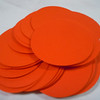 """Orange 2"""" circle tags with smooth finish. 50 in this set. The Paper Company, 65 lb., Acid and Lignin Free. $3 for this set. One set available."""