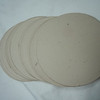 """50 2 5/16"""" circular tags. Driftwood in color. Wausau Papers, Royal Fibers Cover Stock, 80 lb. Smoot Finish. One set available, $3"""