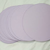 """3 1/2"""" Round Circular tags with embossed edge. Set of 50. Wausau Papers, Exact Vellum Bristol/Cover Stock.  80 lb.  Color: Lavender.  One Set available, $4"""