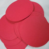 """Red 2"""" circle tags with smooth finish.  50 in this set. The Paper Company, 65 lb., Acid and Lignin Free. $3 for this set.  One set available."""
