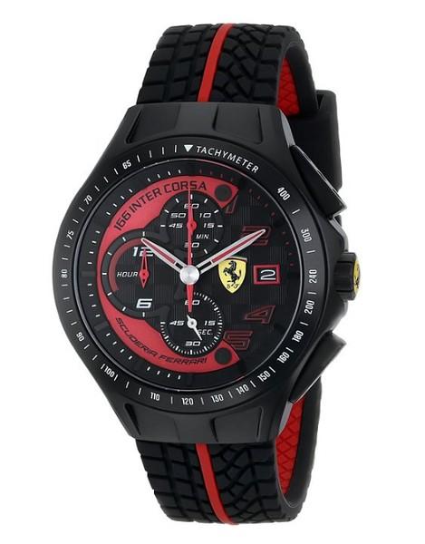 Men's Scuderia Ferrari Heritage Race 830077 Chronograph Black Red Strap Watch € 269,00