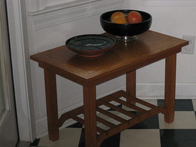 Side table by Burk F.  Two available