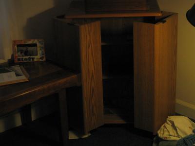 VCR cabinet