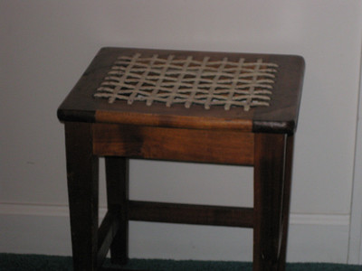 Stinkwood stool - two available.  Purchased in S. Africa by Granddad Mac.