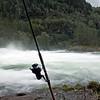 Mykje vatn og lite fisk....Flagafossen 18.08.2009