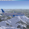 Airwego B737 over the Austrian Alps.