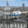 Flying over London, St. Paul's Cathedral.