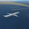 Airwego B757 passing Spurn Point on the east coast of England prior to approach to Humberside airport (EGNJ).