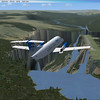Flying over Dagali, Norway. (ENDI) This is a really strange airport placed upon a terrain mesh bug.