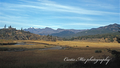 Slough creek in the Yellowstone back country. This begins the Yellowstone adventure.
