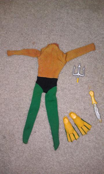 aquaman parts, suit sold August 2013 $22