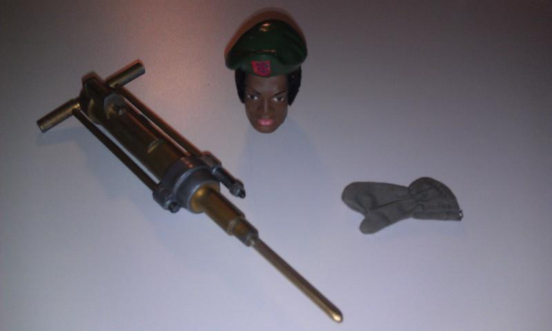 jackhammer sold for $38 to Japan, $25 for beret