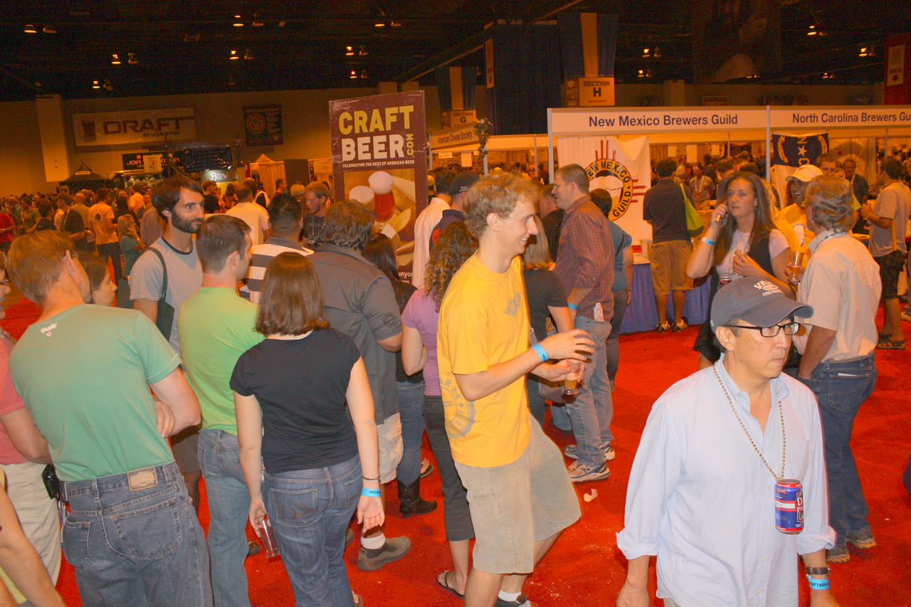 Line going to Craft Beer booth?