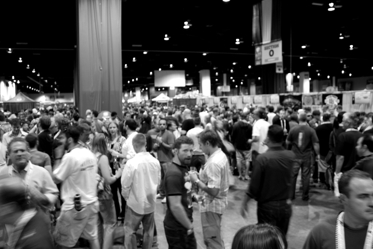 Some crowd shots to get a sense of the GABF scene. Can get a little sense of how many people are there