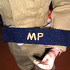 Tan MP snap armband