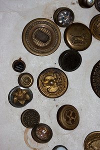 Some brass buttons.