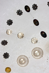 Some cut steel and some glass buttons.