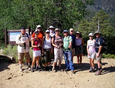 Aspen Grove and Fish Creek Trail Group Hike, San Gorgonio Wilderness-Angelus Oaks CA August 29, 2009