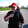 Harpers Ferry Hike: Steve poses with the knife he didn't actually bring on the hike.