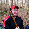 Harpers Ferry Hike: As Steve has a coagulant kit it only made sense to have a dangerous weapon on hand.