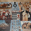 Old wooden puzzle showing scenes in Germany