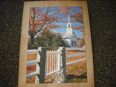 A New Hampshire church in the fall