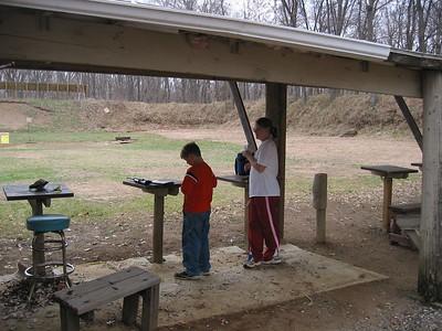 Heather & Taylor target shooting