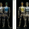 1972 HENSHIN CYBORG 1 (silver, blue, gold, flat grey, 12 inches tall)