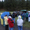 It was still raining when participants gathered.  We were unable to begin shooting photos until the rain began to ebb.  <br /> <br /> Moon Walk participants are always encouraged to dress in layers, because the weather in the forest is often different than it is in town.  Water and snacks are always a good idea, and flashlights are valuable tools!  Experienced hikers usually pack insect repellent.