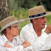 A couple lend an ear to the pre-hike discussion at the July 15th Moon Walk southwest of Hot Springs.