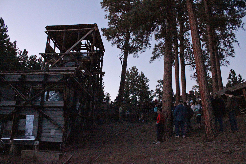 It was a sign of the season that we were losing daylight even before the program began. <br /> <br /> It was a short 1/4 mile uphill hike to the old mine, and there are still vestiges of debris at the old gold mine.