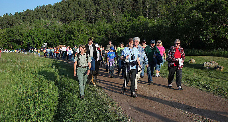Since 1996, more than 12,000 people have participated in 118 Moon Walks.  It's a wonderful sampling of both older and younger people who enjoy hiking and are always eager to learn more about the beautiful Black Hills region.