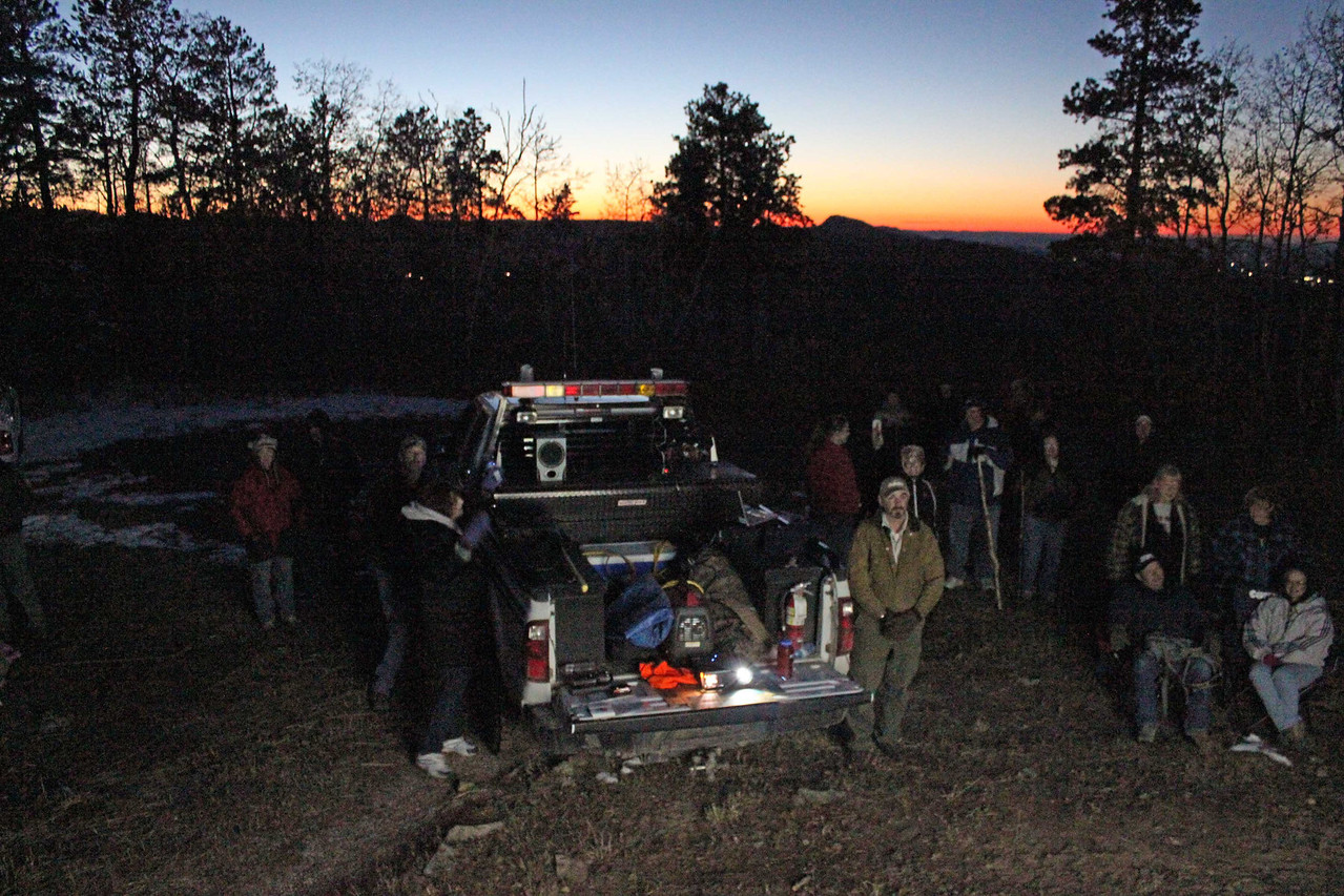 """It was a brisk but beautiful evening for this last Moon Walk of 2012.  We're already looking forward to what Amy Ballard and her crew will do for 2013!  Return to <a href=""""http://www.blackhillsjournal.blogspot.com""""><b><i>Black Hills Journal</i></b></a>"""