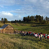 By about 7:30 p.m., our group of about 150 persons arrived at the old Miller Cabin.
