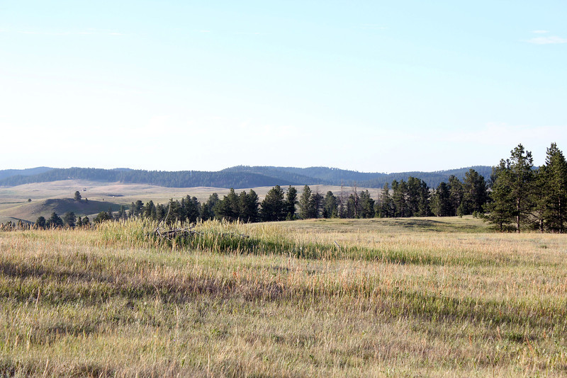The clump of grass near the center of this picture marks the site where native Americans have conducted Sun Dances in years gone by.